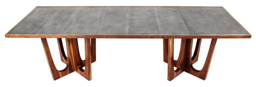 Dining table pedestal dining table plans for Double t dining plan