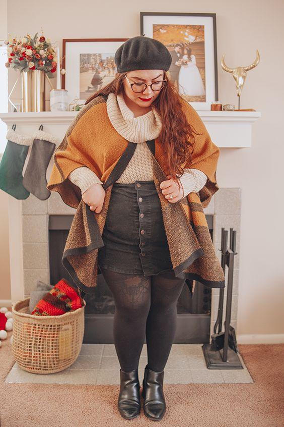 Ideas de moda para gorditas en otoño