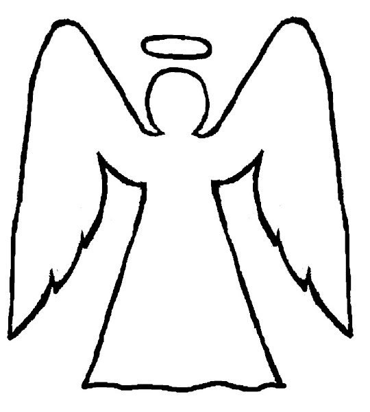Angel Coloring Page Christmas