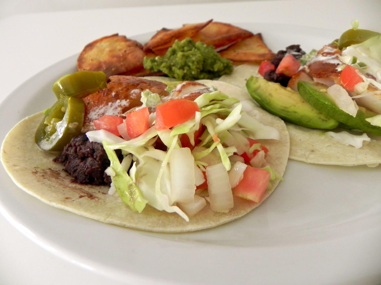 emma clare eats baja blackened haddock fish tacos