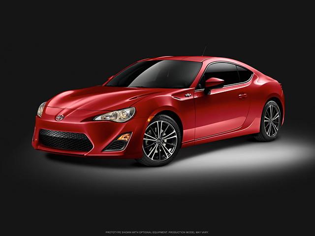 Scion FR-S, japoński sportowy samochód, boxer, RWD