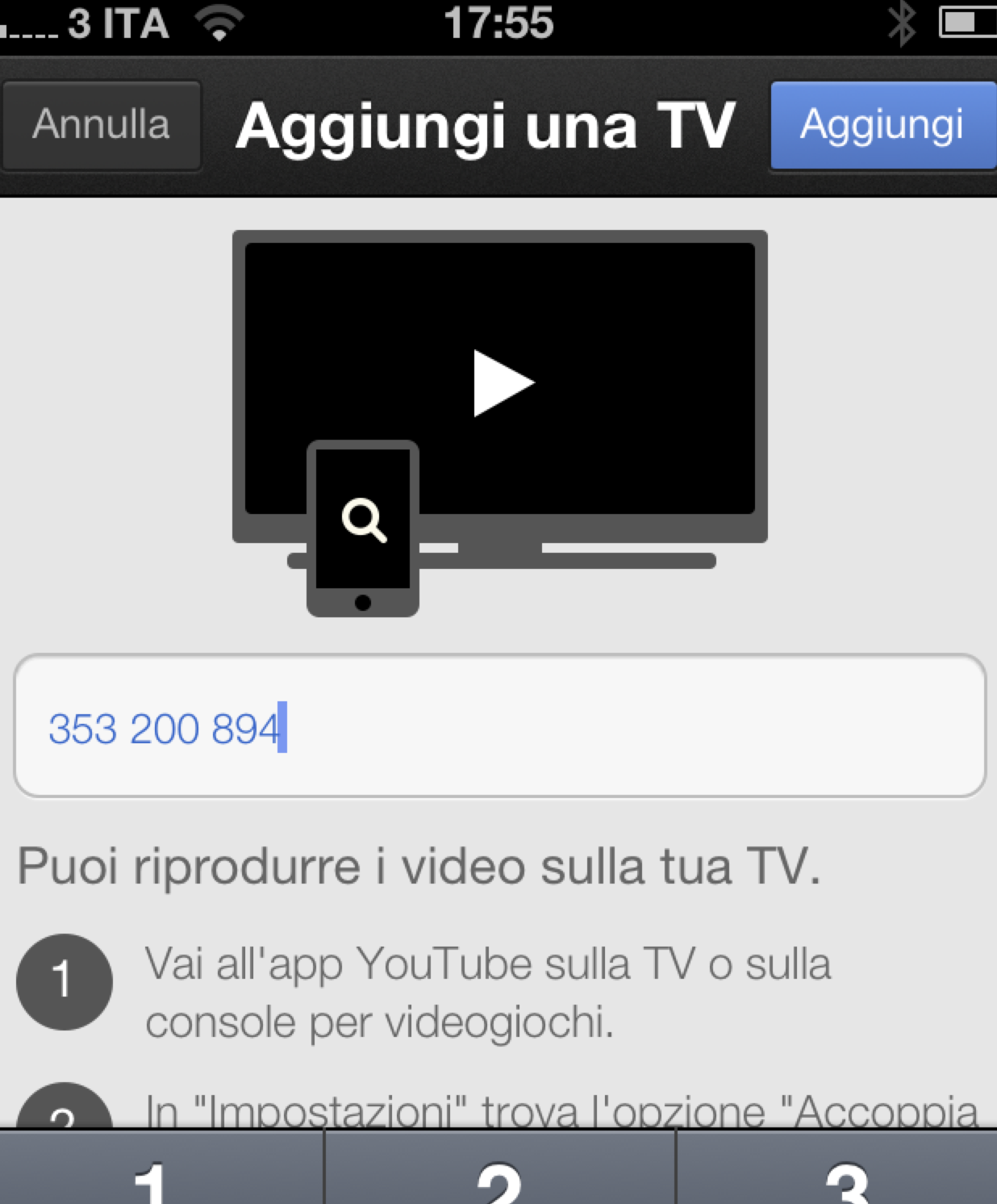 how to connect ihpone yoyutube app with smart tv