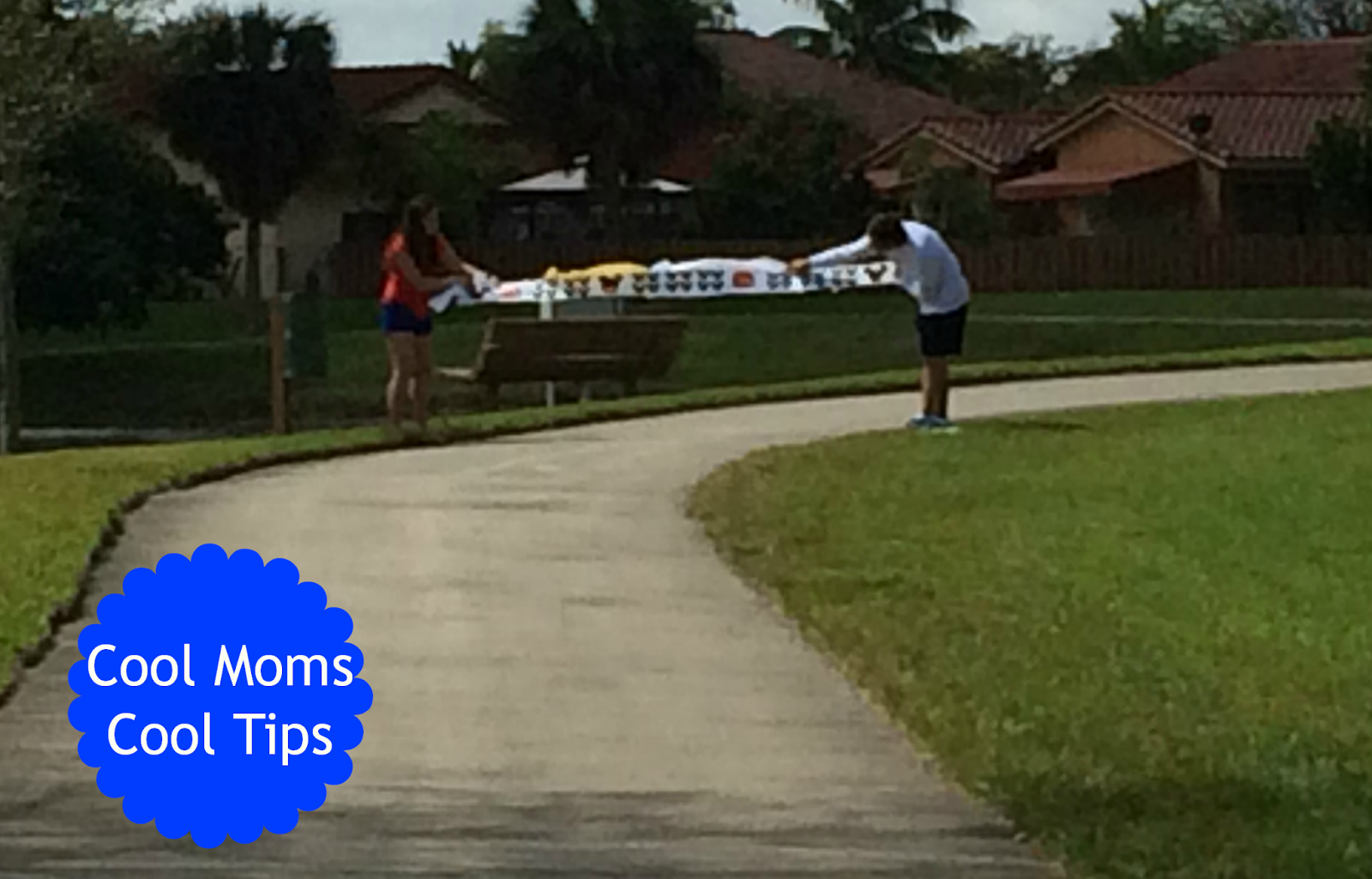 cool moms cool tips finish line ribbon for a race DIY