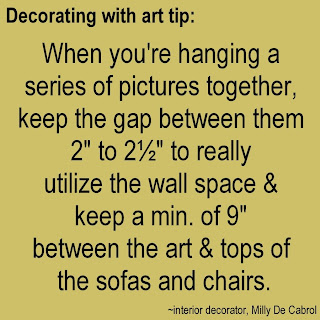 decorating tips for hanging art