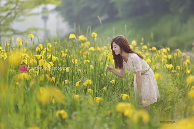 3 Chae Eun - Lovely Outdoor - very cute asian girl - girlcute4u.blogspot.com