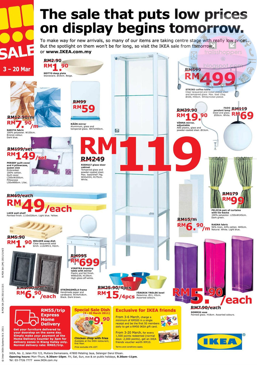IKEA Sale 3 Mar 20 March 2011 Trailsshoppers Stage Centre Petaling Jaya  Related Keywords Suggestions.
