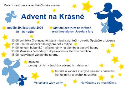 Advent na Krásné 2009 - plakát
