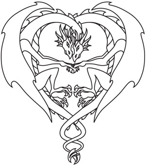 Coloring Page World Dragon Love