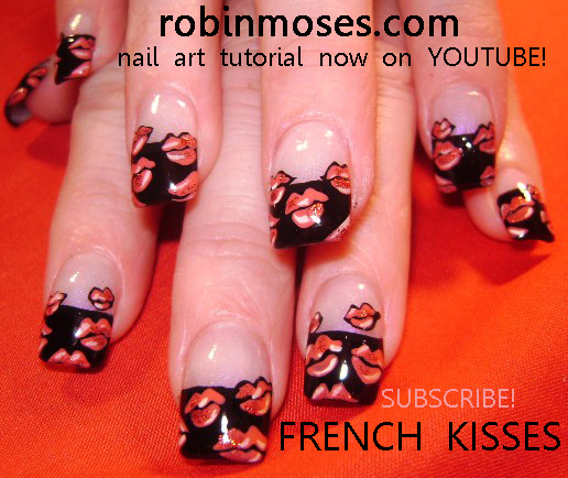 French Kisses Red Hot Lips Nail Art Design The Art Of Removing