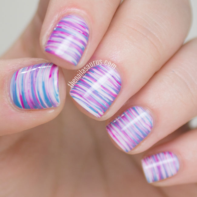 Easter Fan Brush Nail Art - The Nailasaurus | UK Nail Art Blog