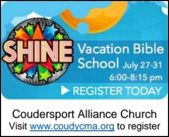 7-27 thru 31 VBS Coudersport Alliance Church