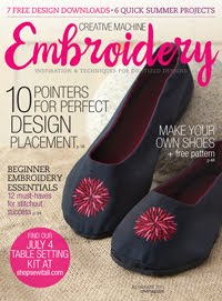 Creative Machine Embroidery July/Aug 2015