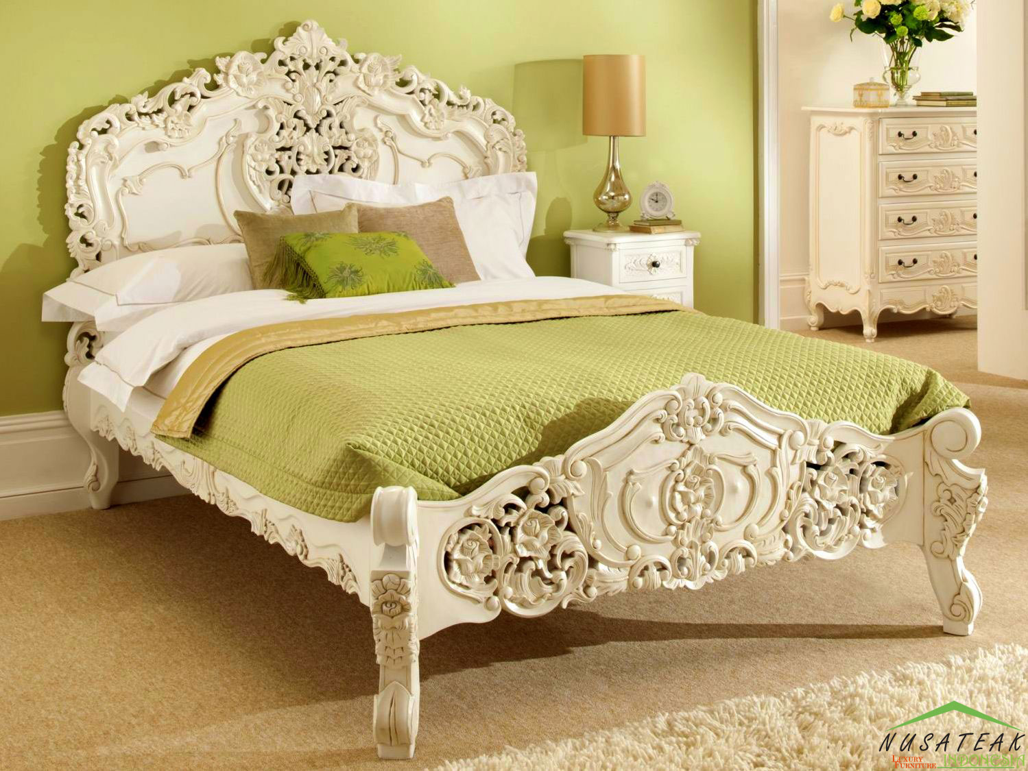 Imogiri French Style Bed Luxury Furniture From Indonesia
