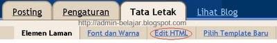 Cara Memasang-Mengganti Template di Blogger-Blogspot
