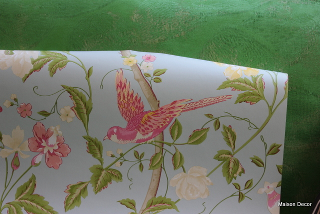 Summer Palace Wallpaper Arrived Pretty Dresser With Pink Knobs Laura Ashley