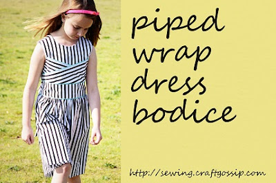 piped dress sewing tutorial