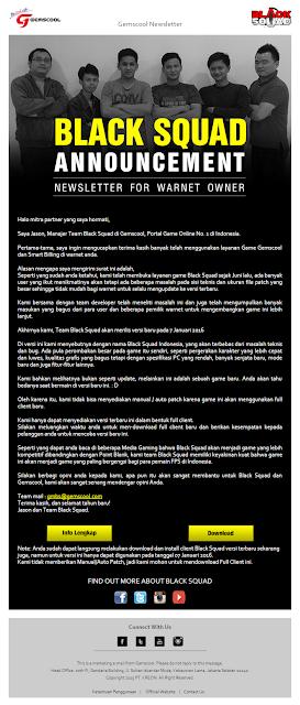 Gemscool Launching BlackSquad Versi Super Update dan Kirimkan Surat Buat Owner Warnet