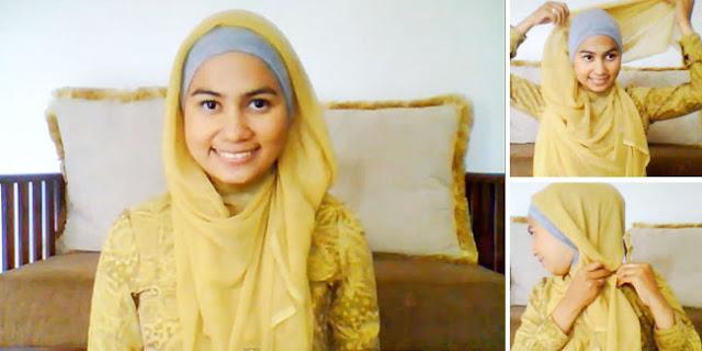 Tutorial Hijab Praktis Segi Empat Untuk Kuliah - Coba Baca dan ...