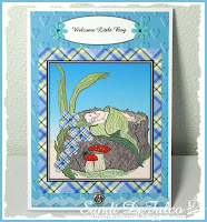 Baby boy card using digital stamp