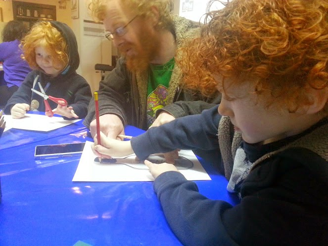 Craft activities at Imperial War Museum North in Manchester