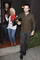 Christina Aguilera leaving Osteria Mozza