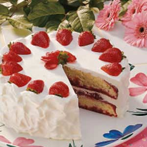 strawberry cake  party