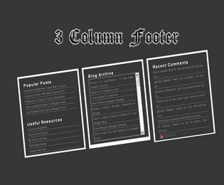 Three column widget for Blogger