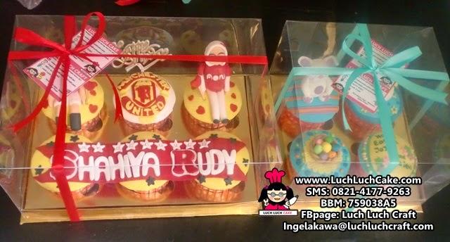 cupcake tema bola manchester united