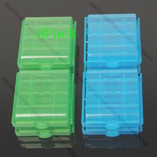 8 X Hard Plastic Case Holder Storage Box AA AAA Battery
