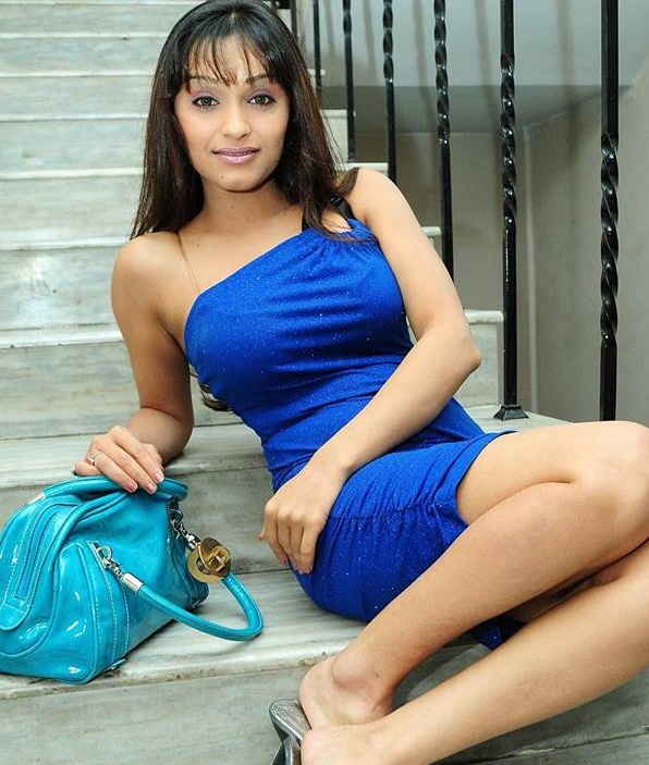 Photoshoot Of South Actress Arya Vora In Blue Dress