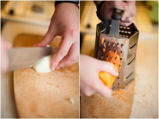 лук и морковка для борща