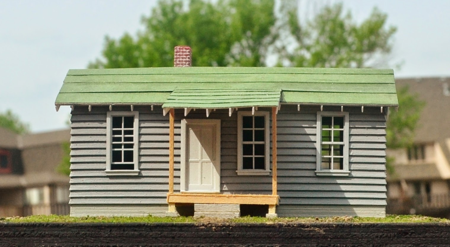 Nirvana valley model railroad frisco section house 3d - Printable ho scale building interiors ...