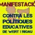 Manifestació contra les polítiques educatives de Wert i Rigau