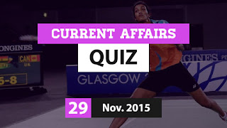 Current Affairs 29 November 2015