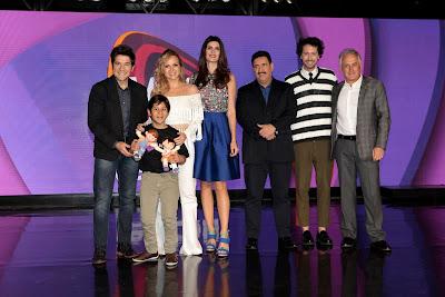 Daniel, Getúlio, Eliana, Isabella, Ratinho, Arlindo e Otávio Mesquita (Crédito: Lourival Ribeiro/SBT)