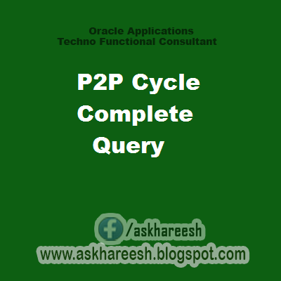 P2P Cycle Complete Query , askhareesh blog for Oracle Apps
