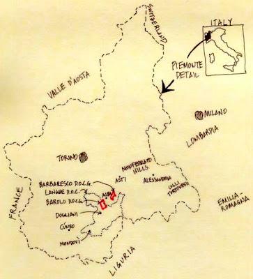 Piemonte Mapa de la Ciudad