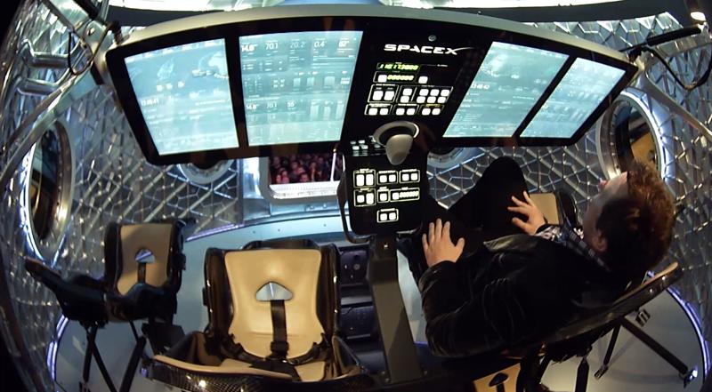Elon Musk in Dragon II