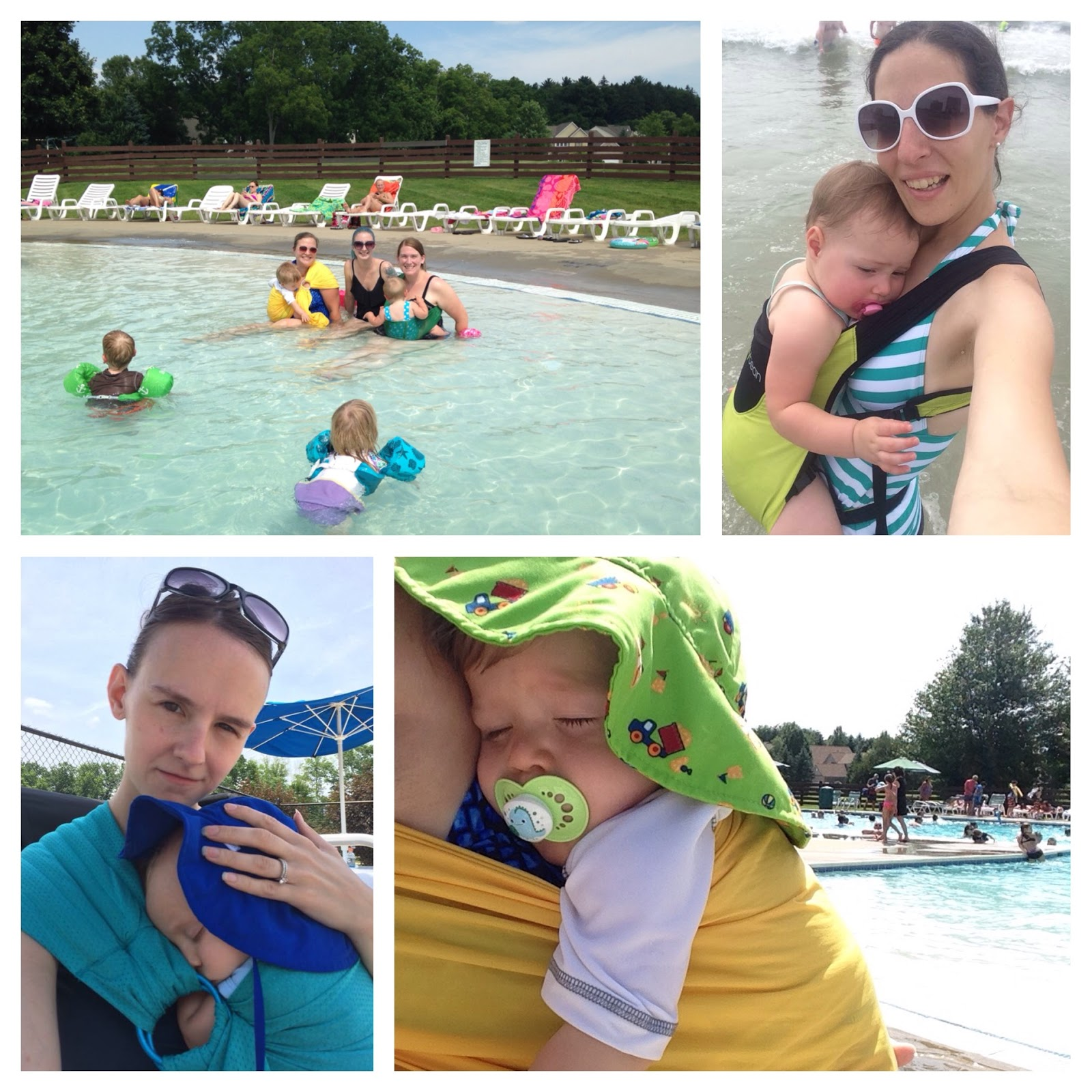 Babywearing international babywearing days of summer for Obi easy pool