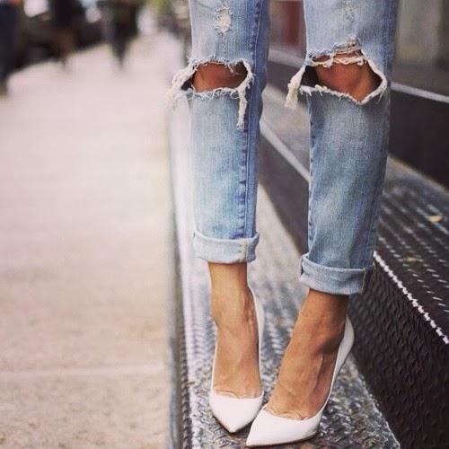 shoes, jeans