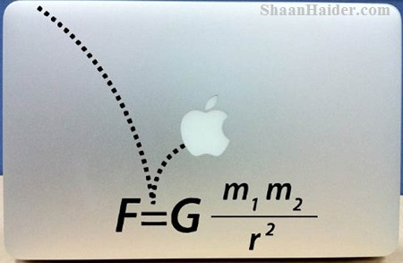 Gravity Formula  MacBook Stickers and Decals