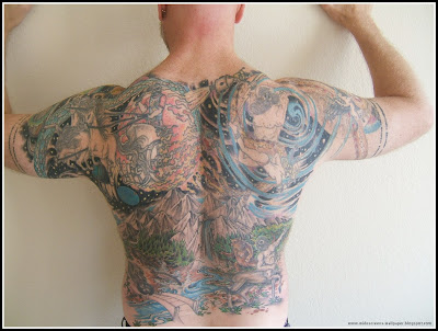 Full Back Tattoos For Men