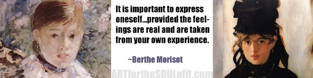 berthe morisot quote it is important to express oneself...