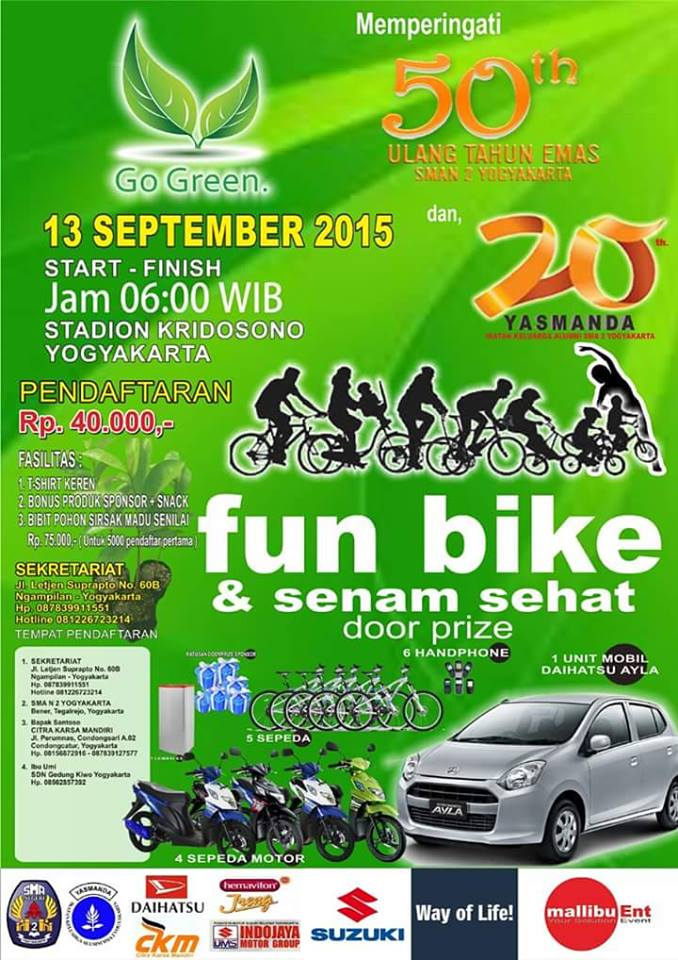 Event Fun Bike dan Senam Sehat SMAN 2 Yogyakarta