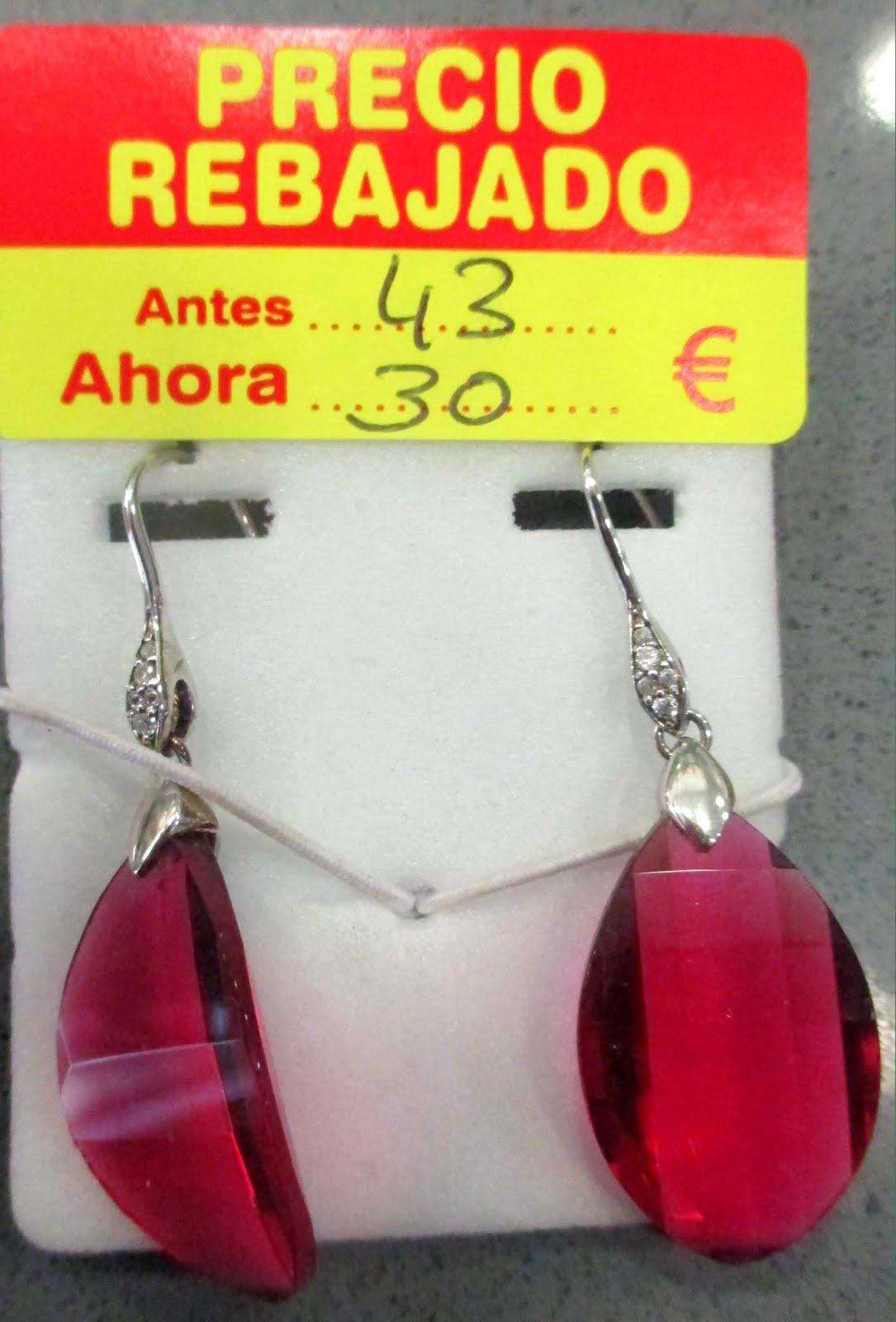 Pendientes plata-glass