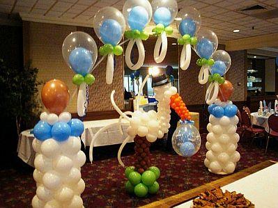 decoracion de baby shower con globos 3 decoracion de baby shower con