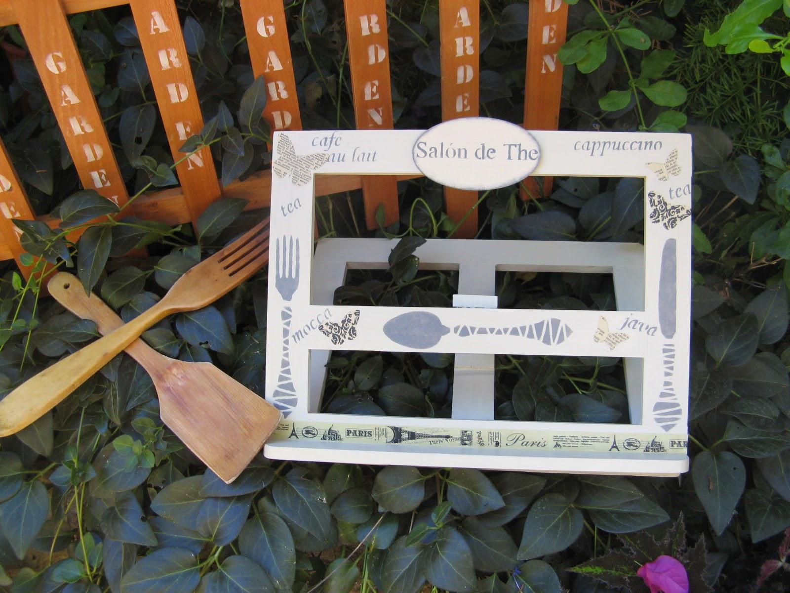 Caja para cubiertos aprender manualidades es - Atril decoracion ...