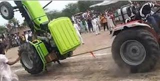 tarik tambang traktor