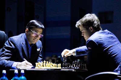 Partie 3 : Anand - Carlsen au championnat du monde d'échecs 2014 © Chess & Strategy