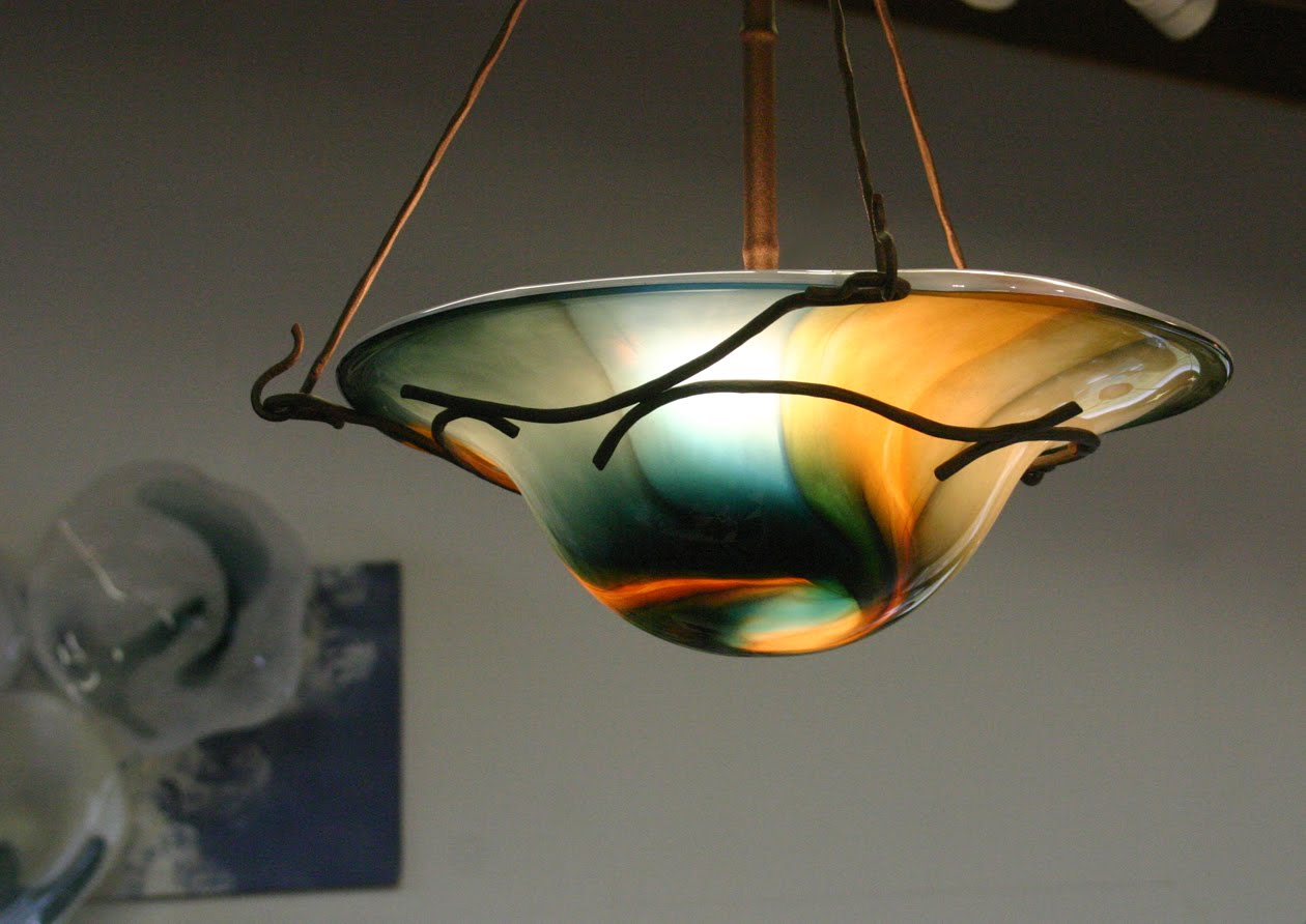 nicholson blown glass pendant lighting sale march 5 in the studio. Black Bedroom Furniture Sets. Home Design Ideas